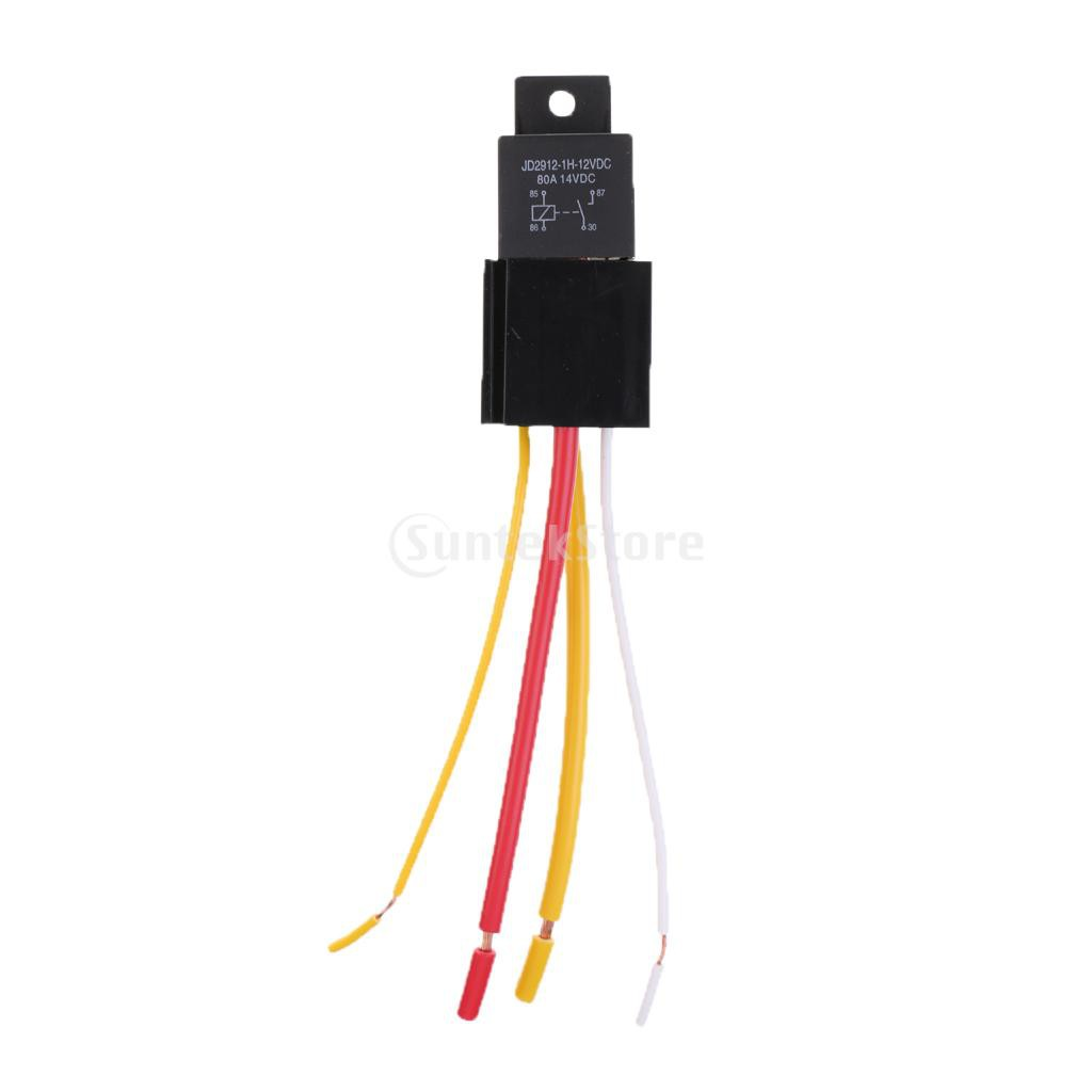 hight resolution of general purpose relays electrical equipment supplies car automotive truck 4 pin 12v 80 amp spdt no relay and harness socket