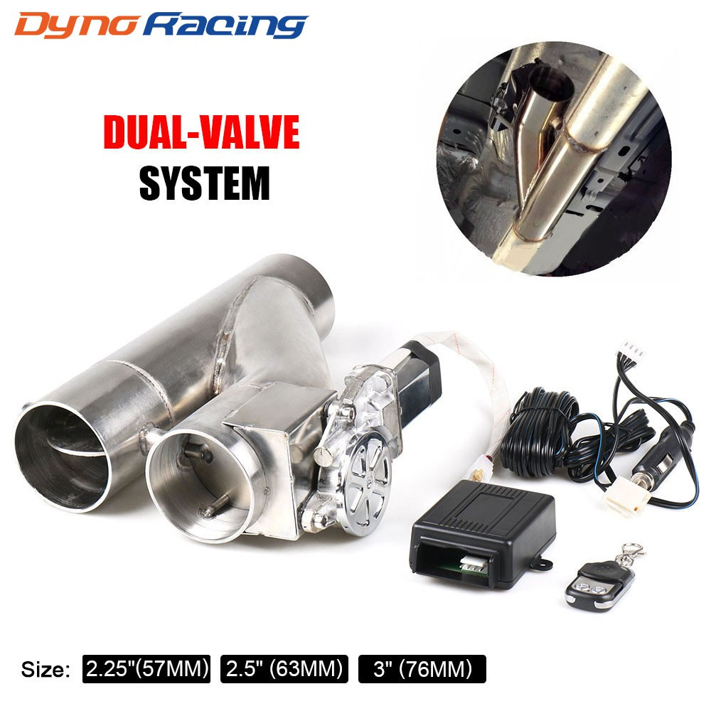 2 2 25 2 5 3 electric exhaust cutout kit y pipe exhaust control valve with dual valve system switch remote control kit