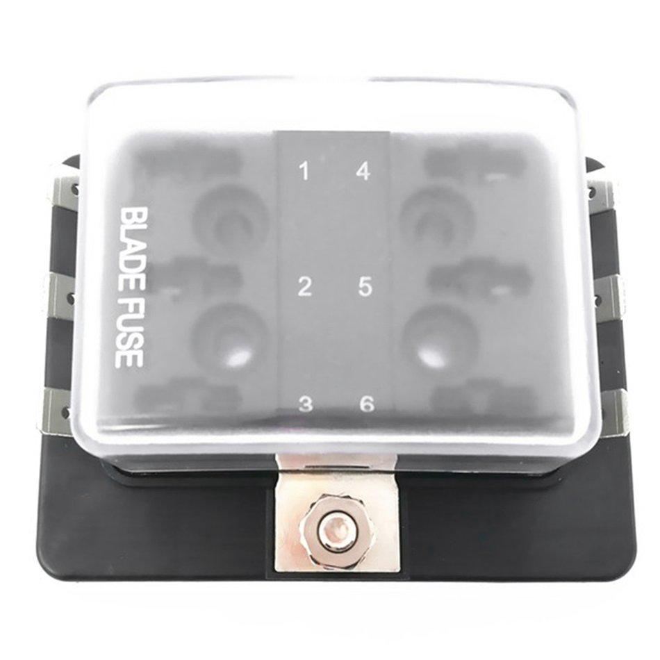 medium resolution of professional 12v 24v 32v universal 6 way blade fuse box holder for car boat shopee malaysia