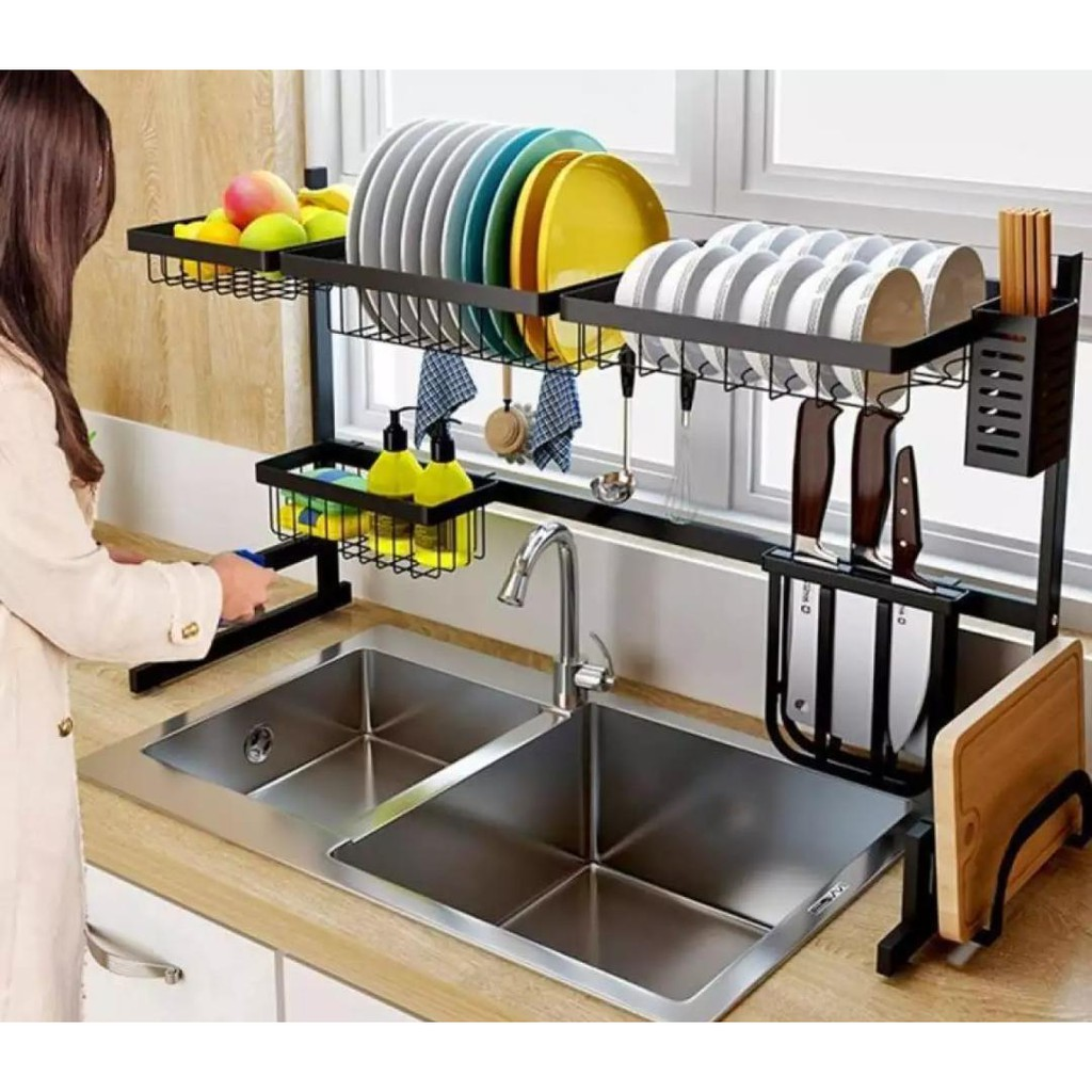 new arrival extra strong stainless steel dish drainer kitchen sink rack dish rack kitchen basin rack