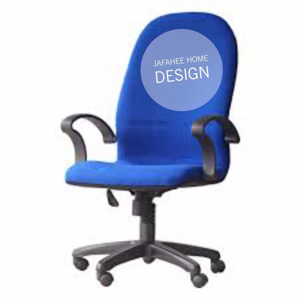 swivel chair lazada recliner chairs gumtree adelaide jfh 3v high back office blue shopee malaysia