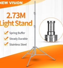 godox 110in 2 8m light stand with 1 4 screw heavy duty tripod for photography shopee malaysia [ 1000 x 1000 Pixel ]