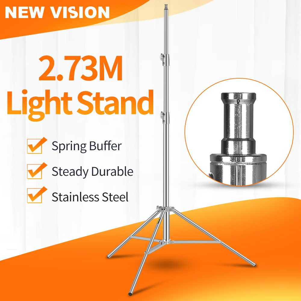 medium resolution of godox 110in 2 8m light stand with 1 4 screw heavy duty tripod for photography shopee malaysia