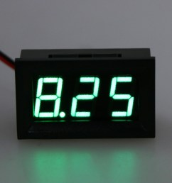 dc 4 5v 30v digital voltmeter 0 56 led 2 wires voltage volt meter panel gauge [ 1024 x 1024 Pixel ]