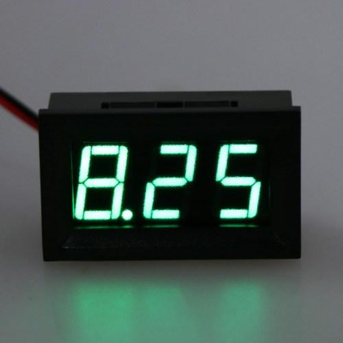 small resolution of dc 4 5v 30v digital voltmeter 0 56 led 2 wires voltage volt meter panel gauge