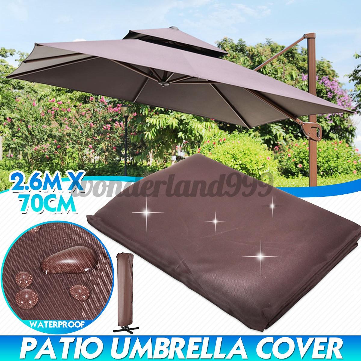 260cm waterproof garden patio parasol umbrella outdoor canopy protective cover