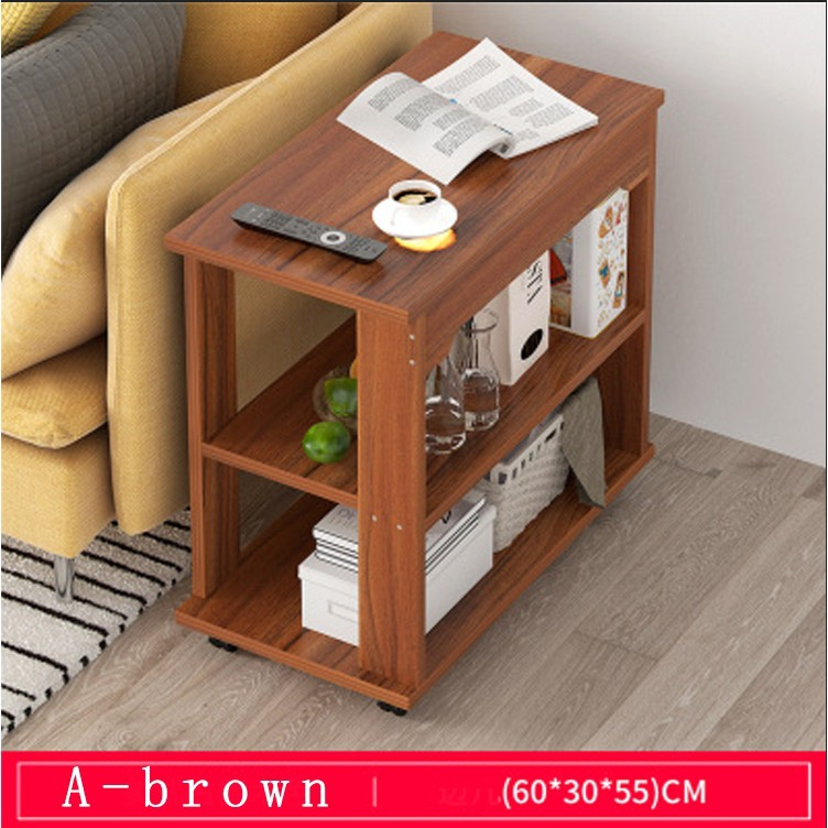 sofa side cabinet living room small coffee table solid wood storage small table