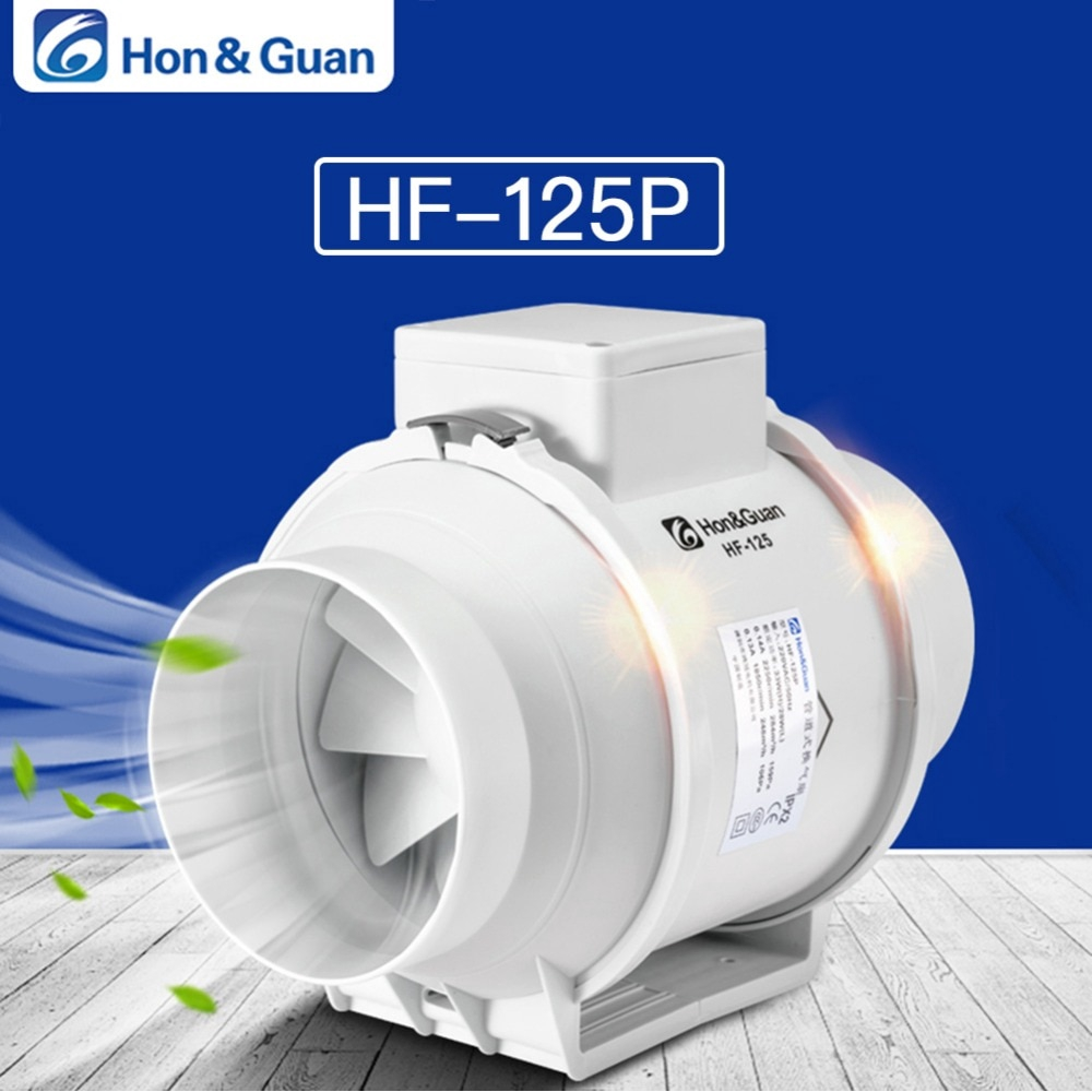 5 silent inline duct fan exhaust fan hydroponic air blower for home bathroom vent and grow room ventilation