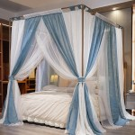 Natural Modern Linen Thicken Mosquito Nets 4 Poster Bed Canopy Netting Luxury Mosquito Net For Girls Women Kids Adults Twin Full Queen King Shopee Malaysia