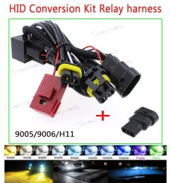 productimage productimage h11 9005 h10 9006 hb4 single beam xenon hid conversion kit relay wire harness [ 900 x 900 Pixel ]