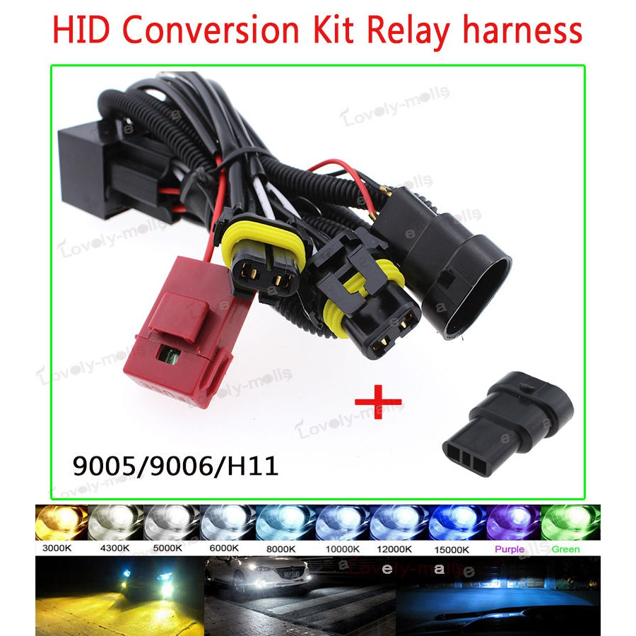 hight resolution of productimage productimage h11 9005 h10 9006 hb4 single beam xenon hid conversion kit relay wire harness