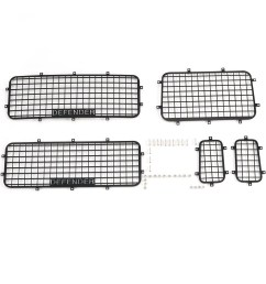 rcfans 5pcs window mesh protective net metal for 1 10 traxxas trx4 rc crawler ca shopee malaysia [ 1010 x 1010 Pixel ]
