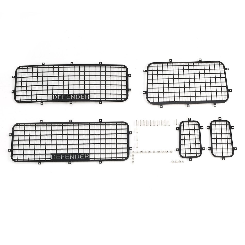 hight resolution of rcfans 5pcs window mesh protective net metal for 1 10 traxxas trx4 rc crawler ca shopee malaysia