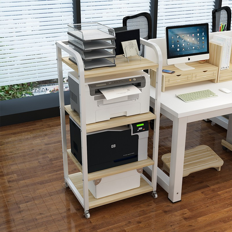 yoyo put the printer rack bracket bracket office desktop computer storage multi layer small shelf floor to ceiling home