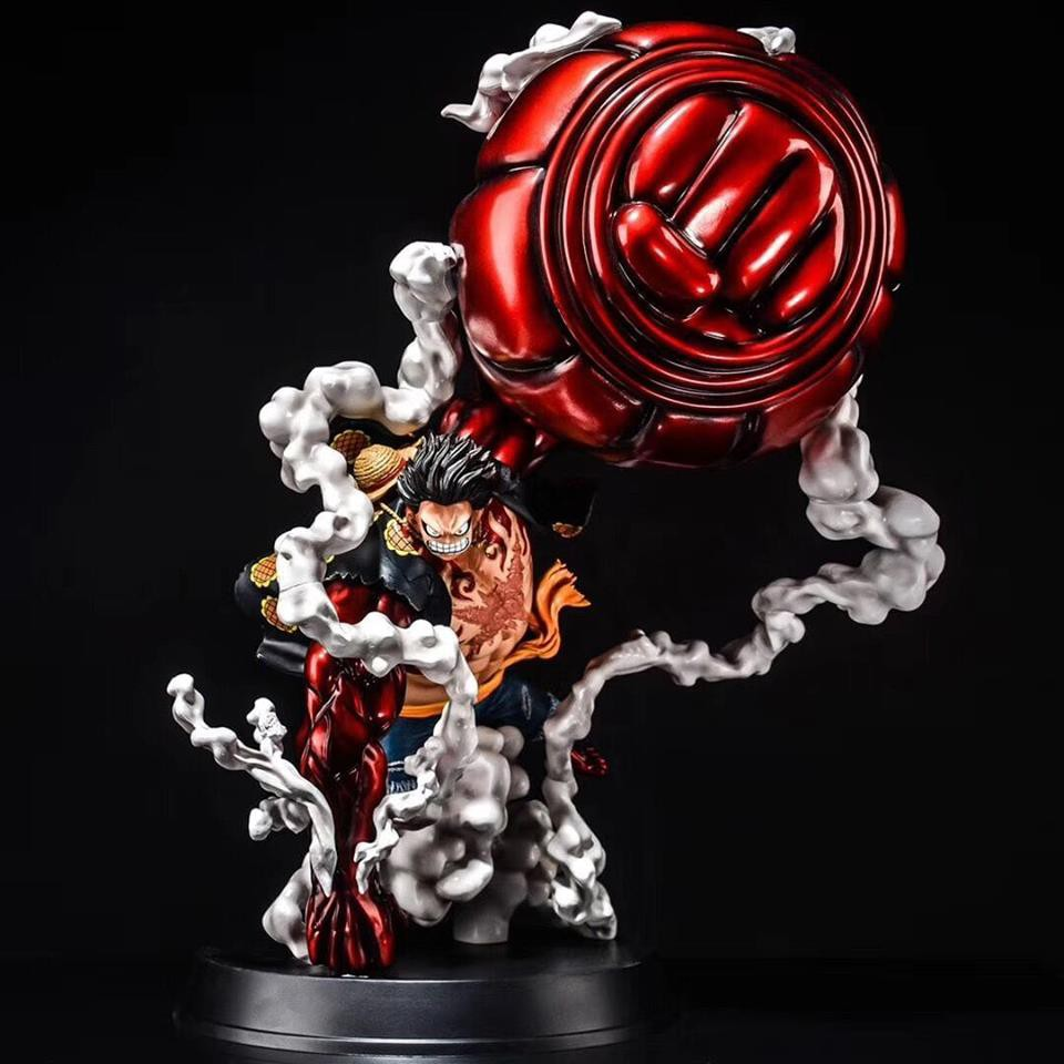 Luffy's proportions become warped and his body becomes much larger, with his arms, upper torso, and legs coated in busoshoku haki. GK KO One Piece 50cm Luffy 4th Gear Kong Gun Action Figure ...