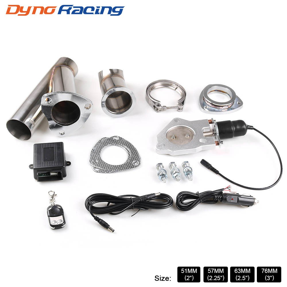 2 2 25 2 5 3 inch car electric stainless exhaust cutout cut out dump valve switch with remote control kit