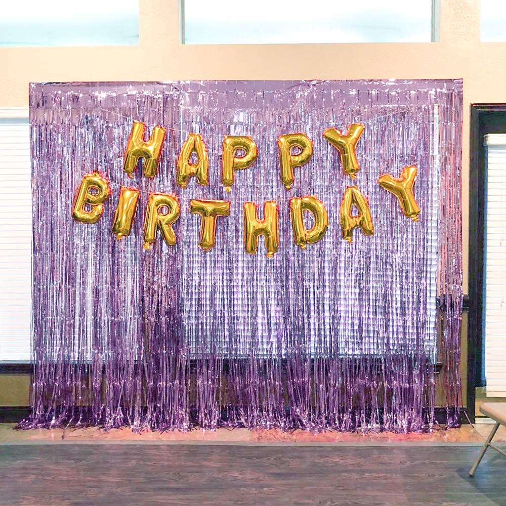 d240 2m length glitter fringe tinsel foil curtain diy home party decor backdrop background photo