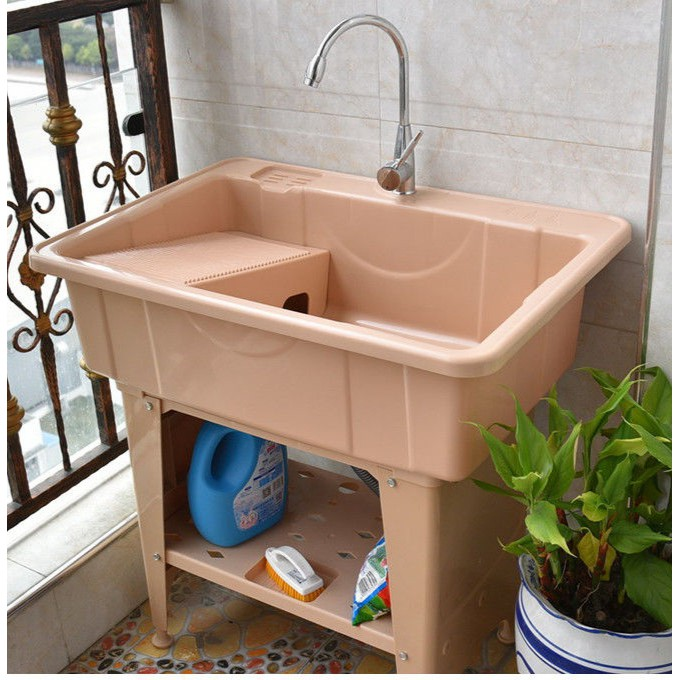 11 hd trendy hard plastic laundry sink for outdoor complete set