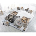 New Design 3d Bedding Set Cat Printed Bedspread Bedclothes Duvet Co Shopee Philippines