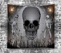 Freemoree Jrzs Halloween Tapestry With Skull Print Background Hanging On The Bedroom Wall Shopee Philippines