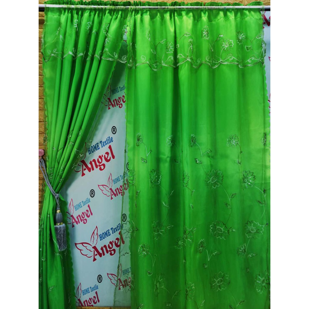 curtains set double layers sheer elegant layered draperies with tie backs for bedroom window