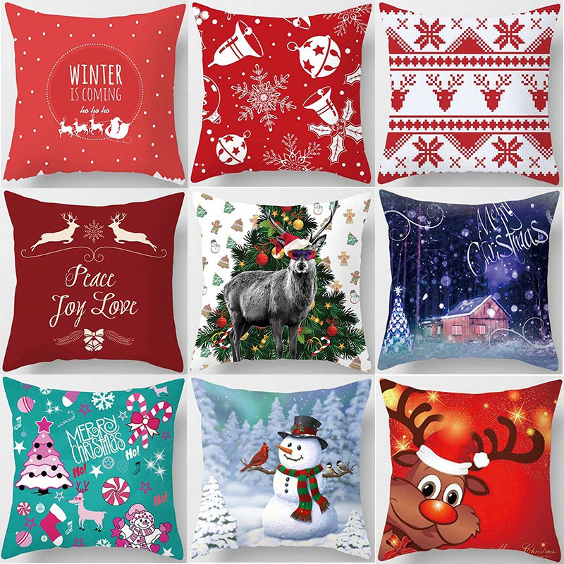 hot sale christmas pillow case high quality thick pillow cases cover sofa pillow covers size 45cm by 45cm