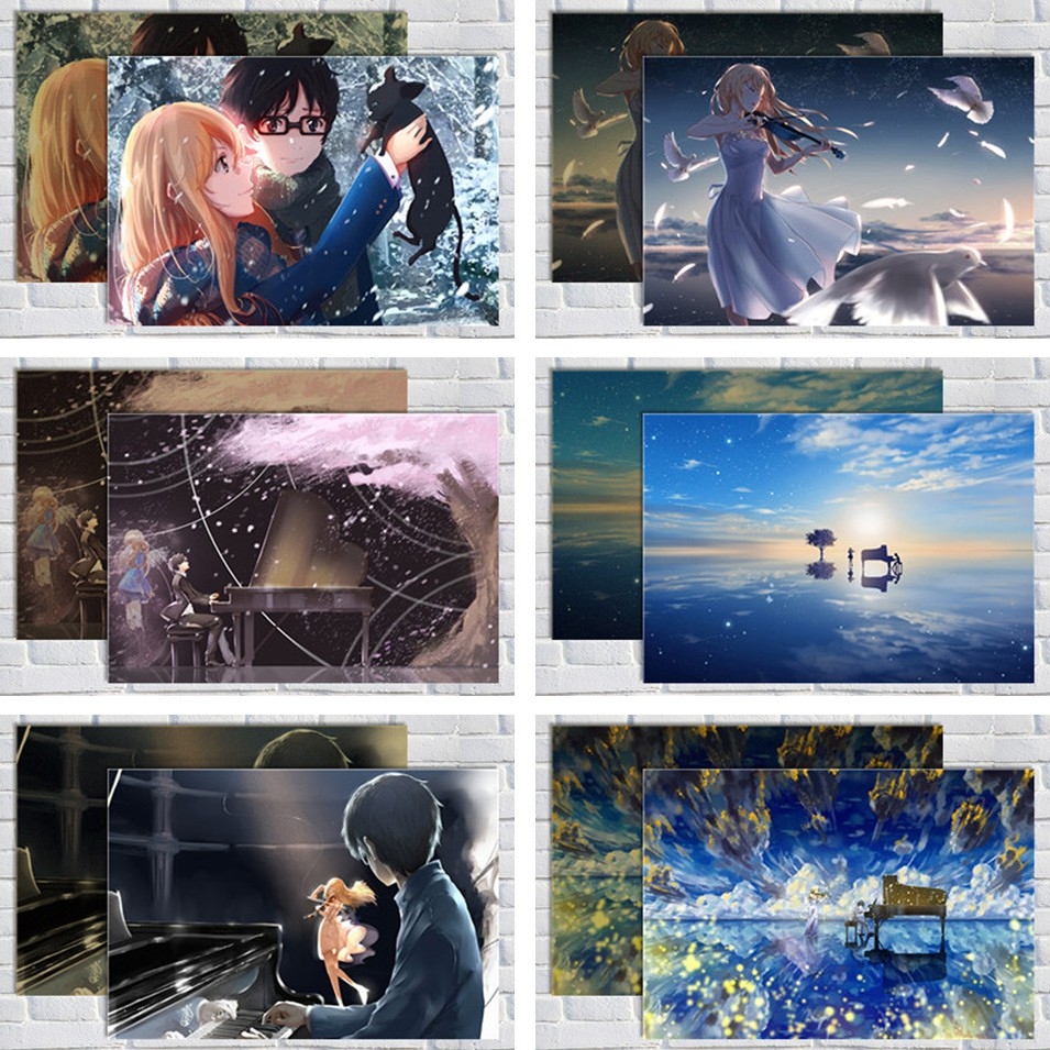 your lie in april poster wallpaper oversized wall painting wallpaper kaoru miyazon animation univers