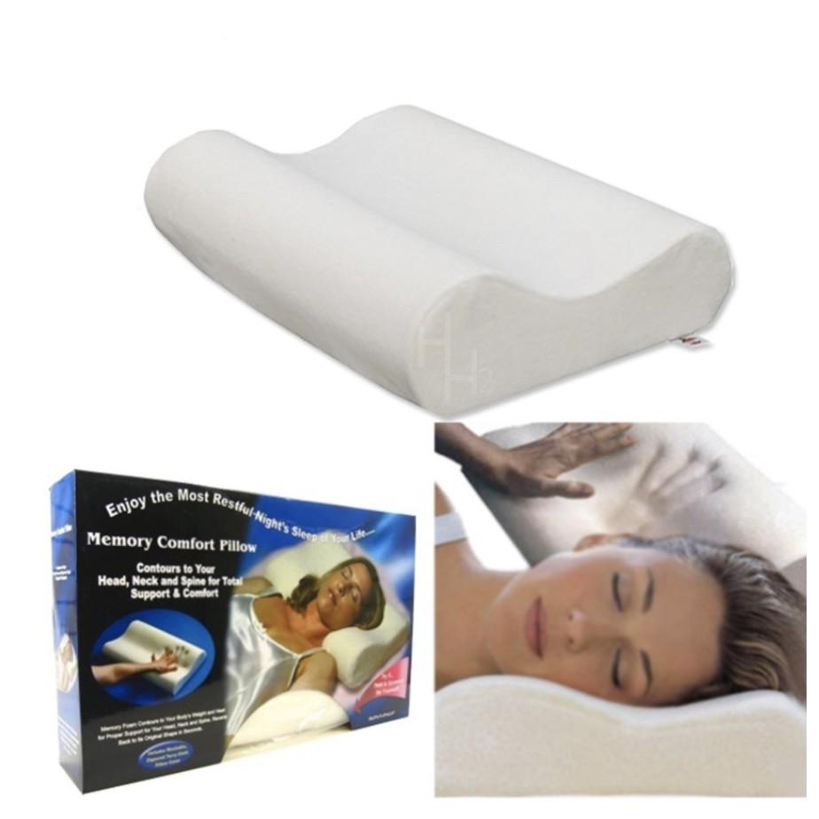 high quality memory foam contour pillow white