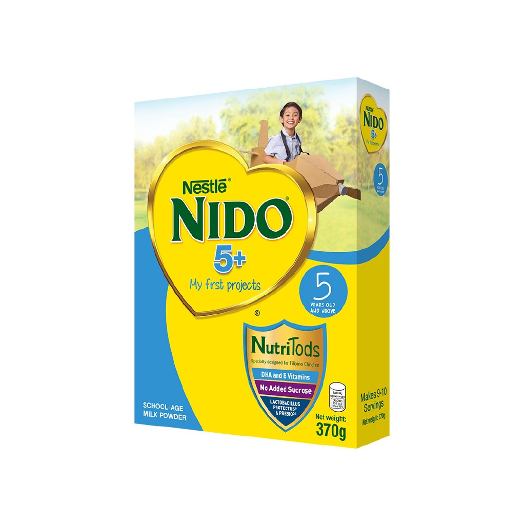 Nido 5+ Powdered Milk Drink For Children Above 5 Years Old ...