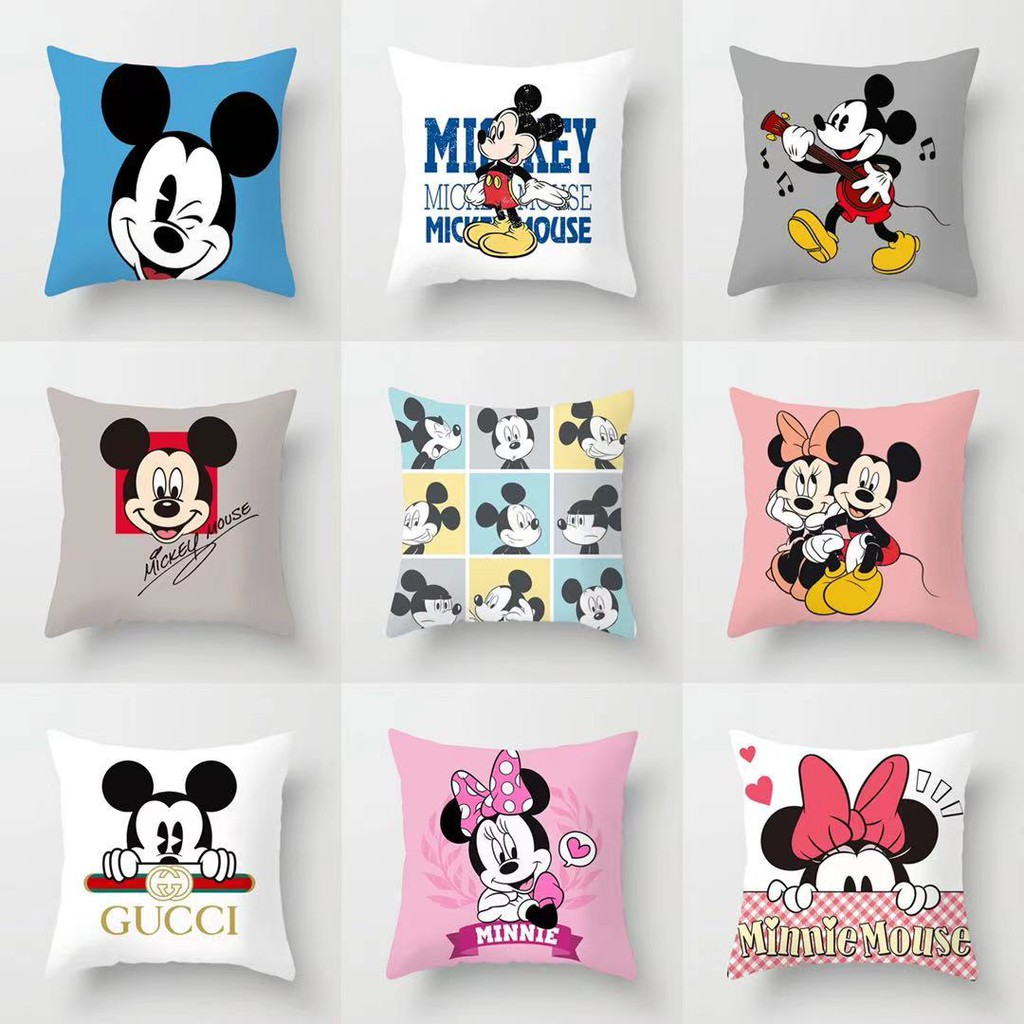 disney mickey mouse minnie mouse throw pillow case sofa cushion cover 45cm 45cm