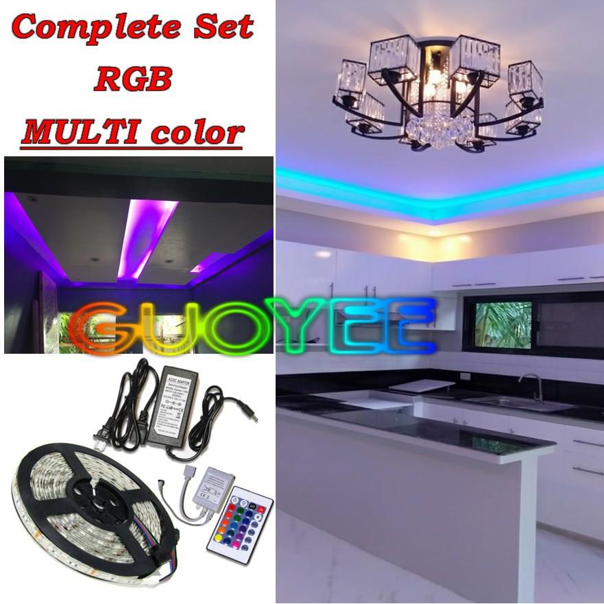 complete set multi color rgb led strip light smd5050 for ceiling cove light diy accent lighting