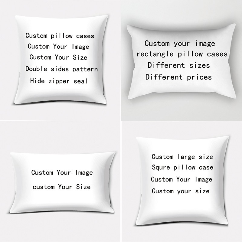 custom high quality thick pillow cases double sides pattern pillow cases custom images and sizes rectangle and square pillow case
