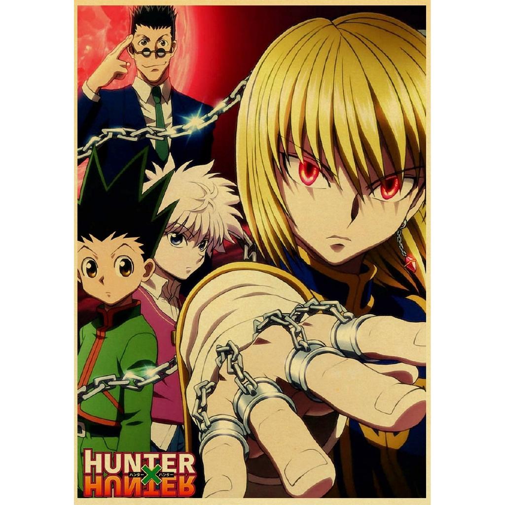 hunter x hunter poster popular classic japanese anime retro poster wall art home bar decor single prints kraft paper animation