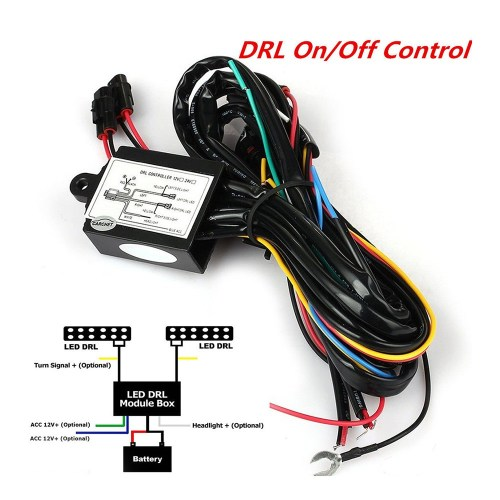 small resolution of 1pc car led daytime running light relay harness on off auto drl controller shopee philippines