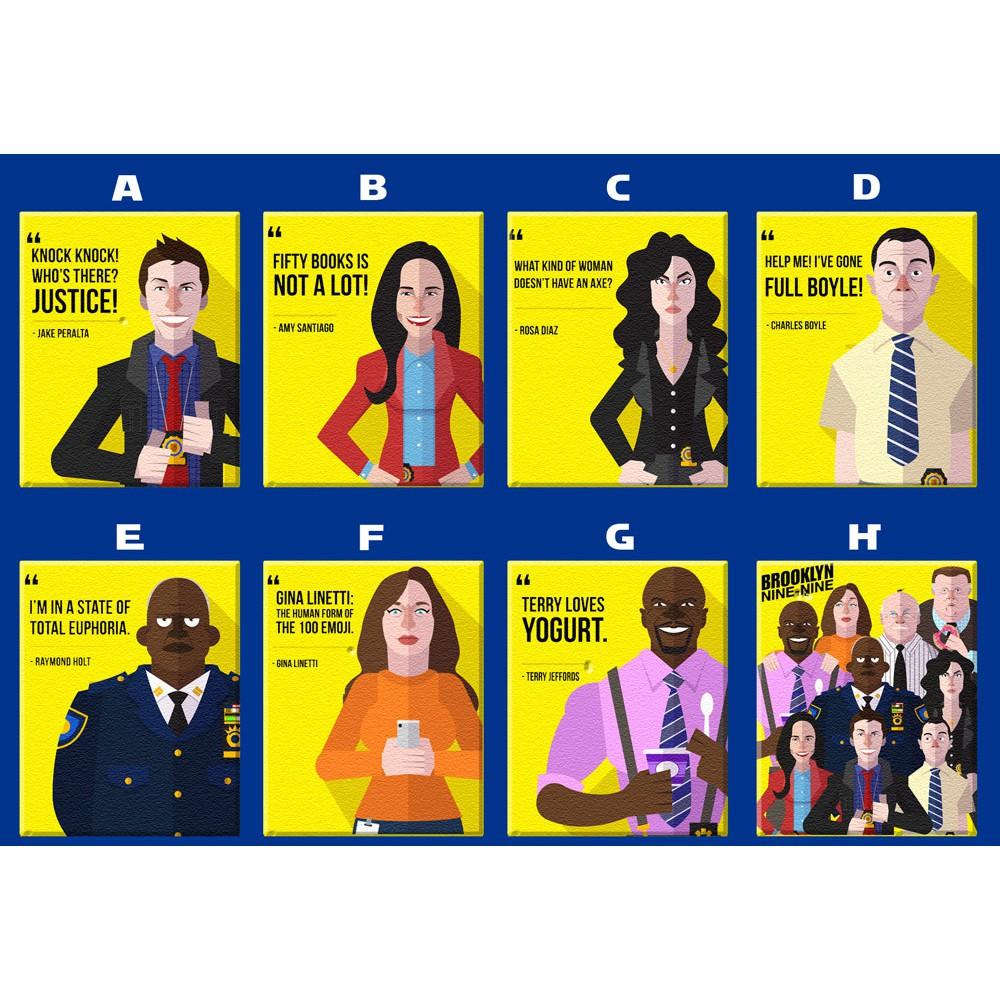 brooklyn 99 nine nine tv series artwork poster magnet collectible