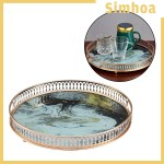 Simhoa Gold Mirror Tray Perfume Glass Vanity Tray Dresser Tray Ornate Metal Decorative Shopee Philippines