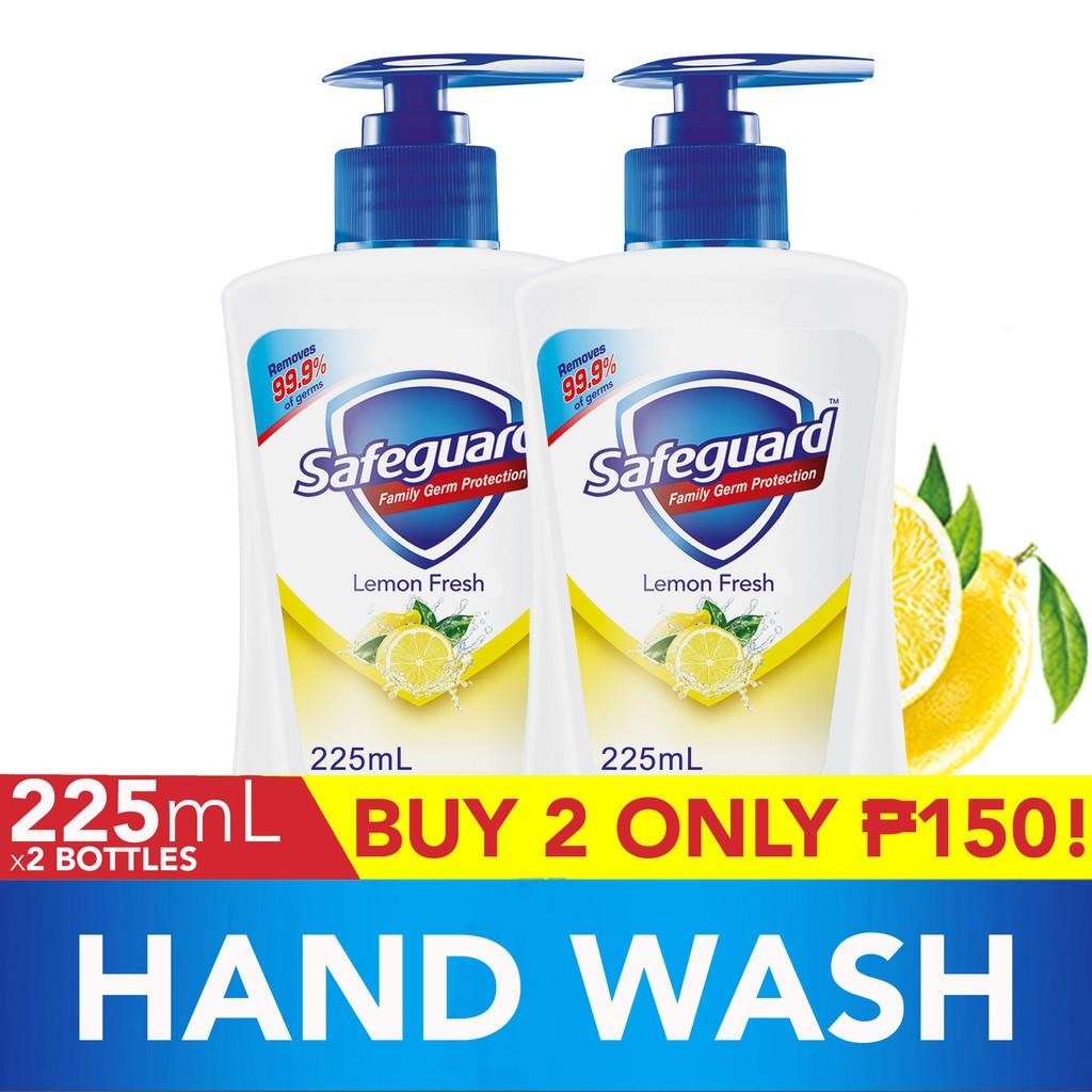 kitchen hand soap round black table safeguard lemon 225ml shopee philippines