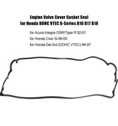 engine valve cover gasket seal for honda dohc vtec b series shopee philippines [ 1001 x 1001 Pixel ]