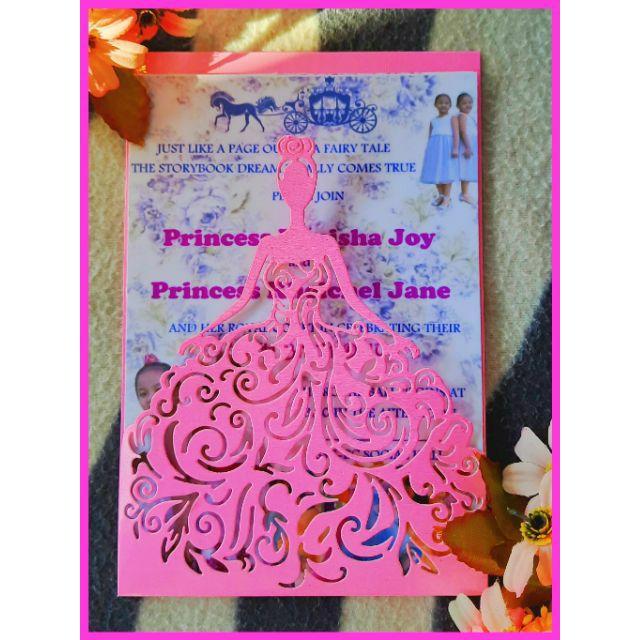 invitation envelope cover debut birthday