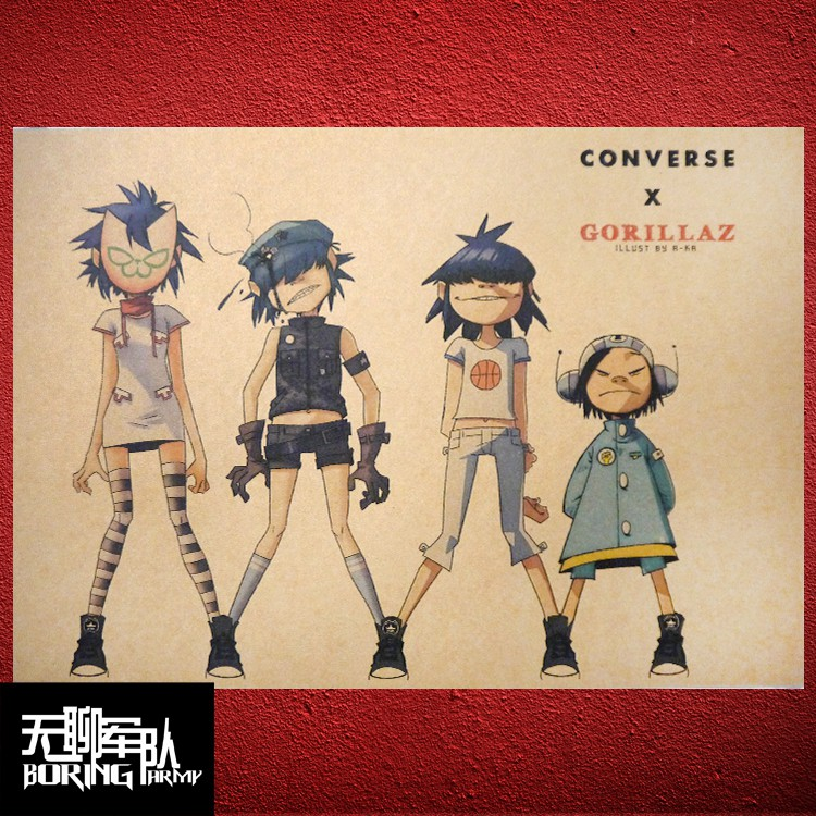Unique gorillaz noodle posters designed and sold by artists. Gorillaz Virtual Rock Band Blur Kraft Paper Poster Bar Decoration Painting Dormitory Photo Wall Stic Shopee Philippines