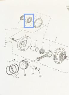 Mio soul i 125 , Mio i125 Crankshaft bearing Original