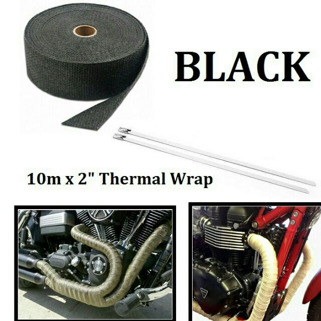 10m car motorcycle thermal wrap insulating exhaust muffler