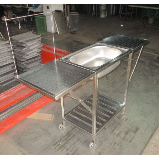 portable kitchen stainless sink