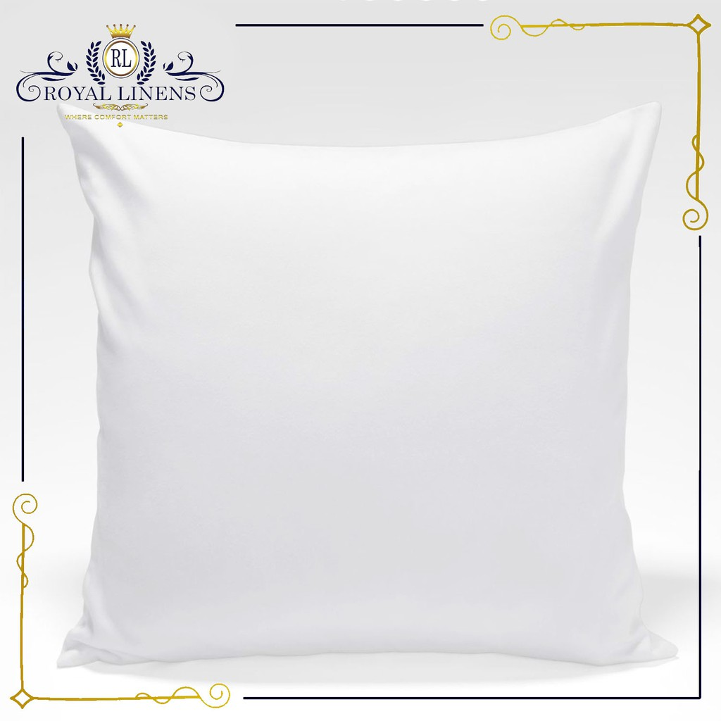 throw pillow white 24 x 24 2 pieces per pack by royal linens