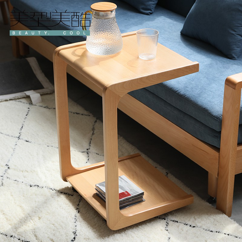 a few c shaped side tables at the bedside table a few solid wood small coffee tables wheeled sofa side tables small squares and cabinets