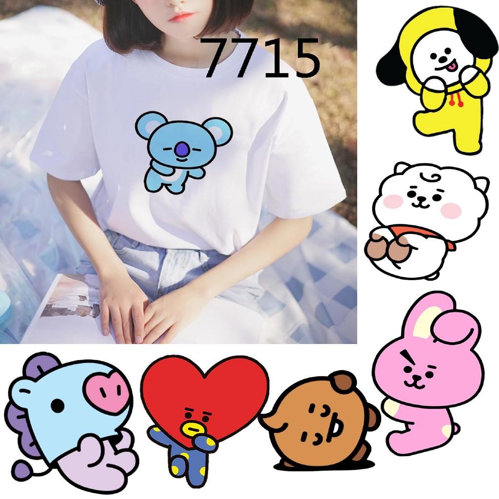 Kaeaii Funny Cartoon Bt21 Printed Unisex Top Women Blouse Tees Kpop Idols Bts Summer Female T-shirt | Shopee Philippines
