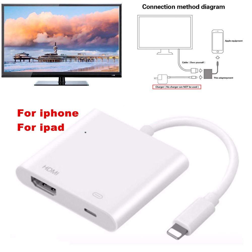 3 in 1 8pin to hdmi converter for lighting to hdmi av adapter converter cable for iphone ipad audio video adapter