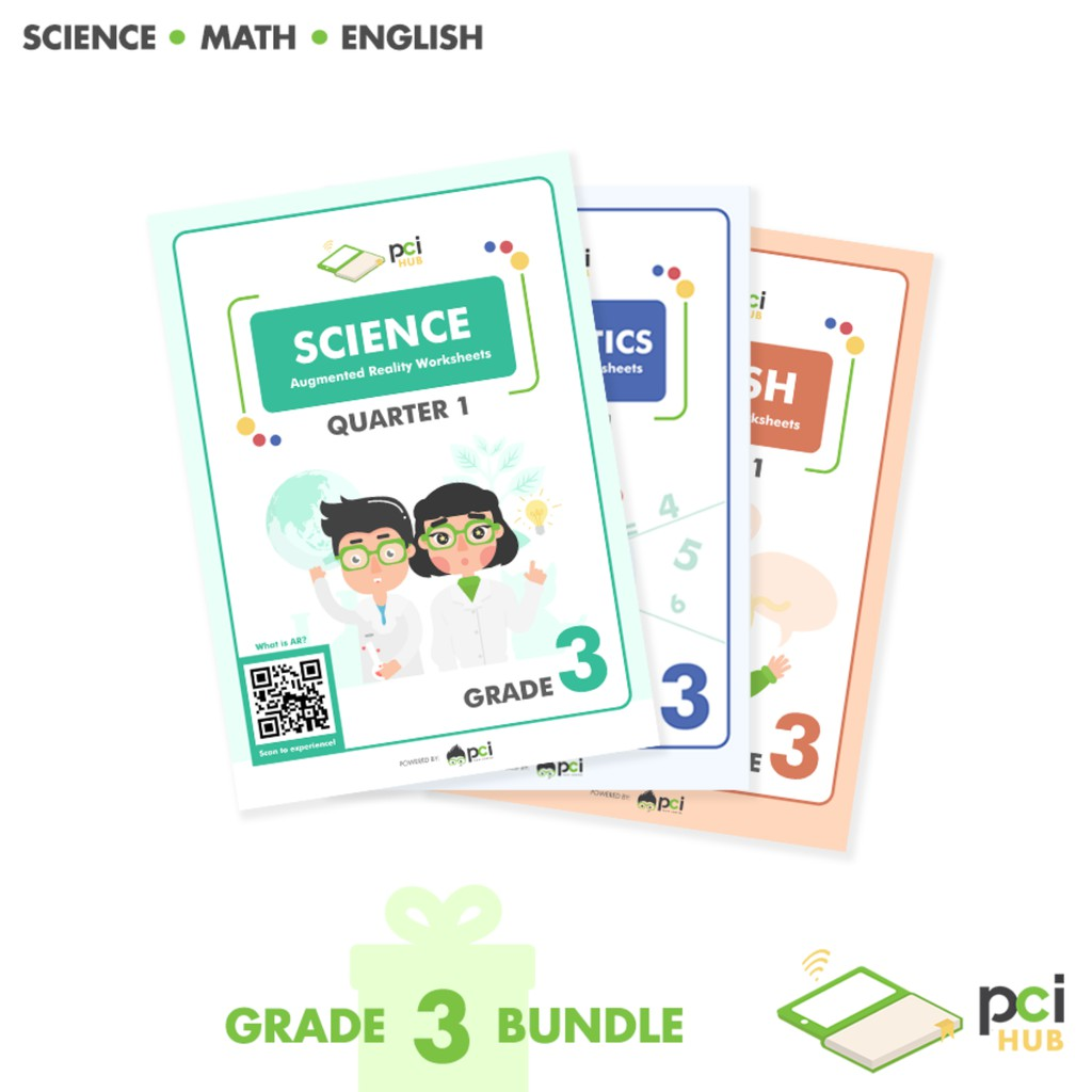 hight resolution of Grade 3 Bundle - Augmented Reality (AR) Worksheets   Shopee Philippines