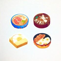 studio ghibli food aesthetic waterproof sticker pack Shopee Philippines