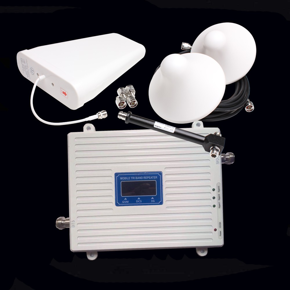 2G 3G 4G GSM DCS WCDMA s 900MHz 1800 MHz 2100MHz Tri band mobile signal booster repeater | Shopee Philippines